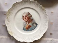 George Washington képpel Crescent porcelán tányér (30)