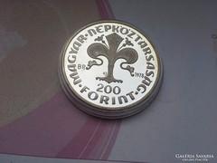 Az első magyar aranyforint ezüst 200 Ft 28 gramm PP Ritka