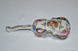 Csehszlovák porcelán hangszer alakú bonbonier
