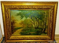 Antik festmény Kertész J.  jelzéssel gyönyörű keretben