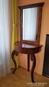 Biedermeier stílusú tükrös fésülködő asztal