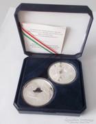 2 darab Mátyás király 1990 500 forint ezüst emlékérme
