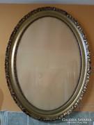 OVÁLIS antik tükör keret 115 X 85 cm