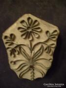 Gyűjtői antik,fém virágmotívumos nyomdai klisé