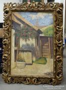 Herritz Oszkár -1883 - ? festőművész - Falusi Ház - 1933
