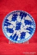 Ritkább kínai kék Koi halas porcelán csészealátét, tálka 3db