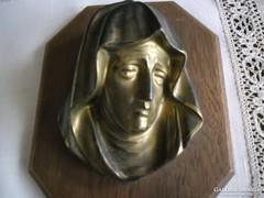 Szűz Mária  bronz kisplasztika falikép