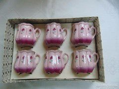 H&C pink bögrék arany díszítésél -  vintage