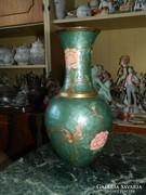 Álomszép nagy tűzzománc réz váza