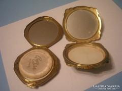 2db púder szelence aranyszínű,Angol U9