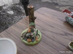 Retró kerámia vadász lámpa