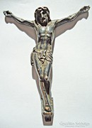 Jézus a kereszten fém szobor