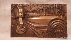 KÉV METRÓ bronz plakett