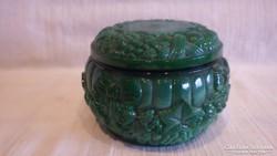 Malachit üveg bonbonier