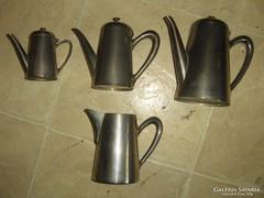 Négy darab szép régi,teás,kávés kiöntő kanna.