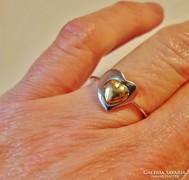 Gyönyörű arany gyűrű fehér és sárga arany