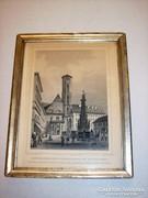 Buda - EREDETI Rohbock metszet - 1850-es évek
