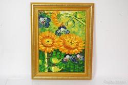 Van Gogh stílusú olajfestmény vásznon 39x49 cm