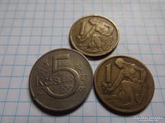 3 darab  Csehszlovák  Korona !!