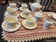Zsolnay kézzelfestett teáskészlet