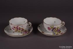 Antik HEREND teáscsészék - Ritkaság - 1898