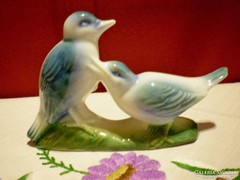 Aranyos kerámia madárpár