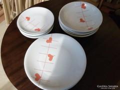 Retro, szívecskés Alföldi porcelánok.I