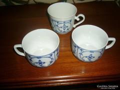 3 db Kék mintás csésze