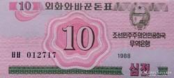 Észak-Korea 10 Chon 1988 UNC