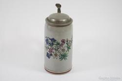 Kézzel festett söröskorsó 1900-as évek eleje