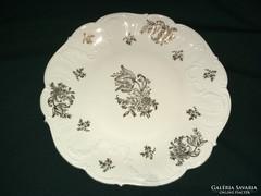 Bavaria aranyozott porcelán kínáló tál 31 cm