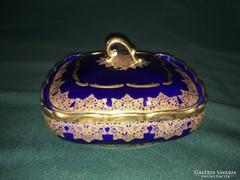 Hutschenreuther Hohenberg aranyozott porcelán fedeleskínáló