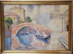 EDVI ILLÉS PANNI AKVARELL VELENCE 1939