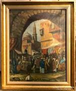 Felix Possart - Kairói bazár 1890