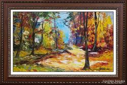 --Festőkéssel-Erdőbelső.. -Eredeti kortárs festmény-