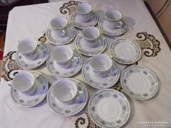 5 + 4 személyes porcelán kávéskészlet
