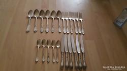 Orosz ezüstözött evőeszközök