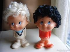 A két kópé - retro játék  gumi figurák