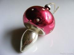 Üveg gomba karácsonyfadísz