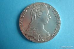 Mária Terézia Tallér 1780  SF  UV,  Ag, 833 28 g.