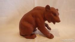 Jelzett kerámia , minőségi medve szobor