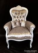 Elegáns olasz barokk fotel
