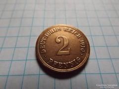 Nagyon szép 2 Pfennig 1910 !