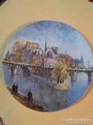 Limoges porcelán  francia falitányér,Louis Dali Párizs-