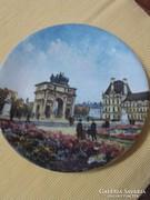 Limoges festett porcelán tányér-Louis Dali-Párizs