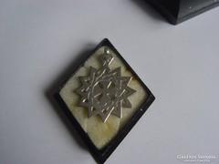 Fémjelzett ezüst medál