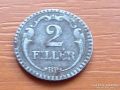 2 FILLÉR 1940 BP. VAS ROVÁTKOLT