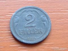 2 FILLÉR 1943 CINK HORTHY