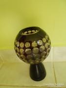 Nagyon dekoratív art deco üveg váza