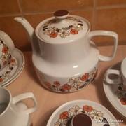 Hollóházi retro teáskészlet